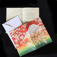Mt.Fuji and Cherry Blossom Greeting Card (Christmas card) from Japan