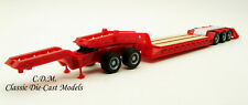 Heavy Equipment Red Lowboy Trailer w/Jeep 1/87 Ho Scale Promotex/Herpa 5392