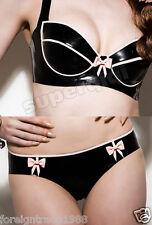 100%Latex Rubber.45mm Top Short Bra Lingerie Pants Catsuit Suit Costume Fashion