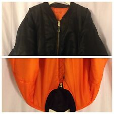 Big Counter Strike Black Satin/Orange Reversible Hunting/Work Zip Jacket 3XL
