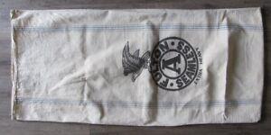 Antique Feed SEED Bag FULTON A SEAMLESS Extra Heavy Cotton Canvas Grain SACK