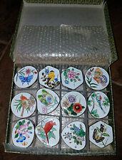 Set of 12 Andrea Sadek Trinket Pill Boxes Metal Enamel Bridal Shower Decor