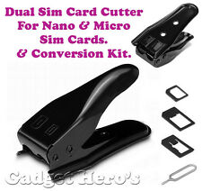 Dual Sim Card Cutter & Adapter Kit For Nano & Micro Sim Cards With Sim Pin.
