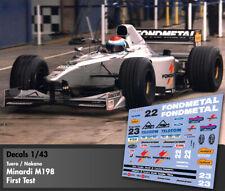 Decals 1/43 - F1 - Tuero / Nakano - Minardi M198 - First Test 1998
