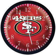 San Francisco 49ers Black Frame Wall Clock Nice For Decor or Gifts E95