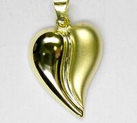 ECHT GOLD *** Herz Anhänger, 26 mm