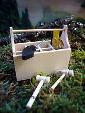 Tool Box with Tools 61096  Dollhouse Miniature Fairy Garden Diorama