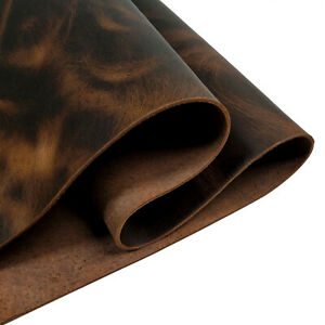 """12""""X6"""" Brown Genuine Cowhide Leather Sheets / 2.0 mm For Crafts UK Seller"""