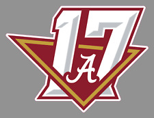 "University of Alabama 6"" NCAA National Champion Vinyl Sticker Crimson Tide UA"