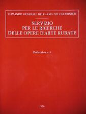 Carabinieri catalogo opere d'arte e monete rubate bollettino 8 1978