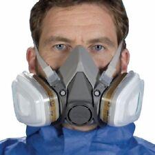 Mascarilla Doble Filtro /Media Máscara 3M Respirador Polvo Pintura Gas  6200