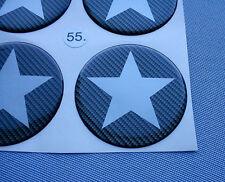 (stern 5/55C2) 4x Carbon Lock Embleme für Nabenkappen Felgendeckel 55mm Silikon