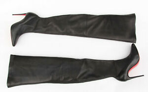 Christian Louboutin Elouix Over The Knee Leather 100 MM Boots EU 37.5 - US 7.5