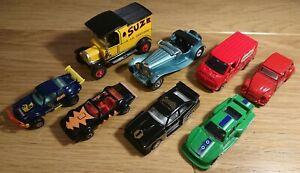 Group Of 8 Model Diecast Cars & Vans Corgi Matchbox Lesney Guisval Porsche Ford