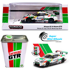 Tarmac Works 1:64 2018 NISSAN GT-R NISMO GT3 Macau GT World Cup w/ Metal Oil Can