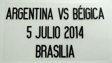 "Match Date of Argentina vs Beigica ""World Cup 2014"" at Argentina Home"