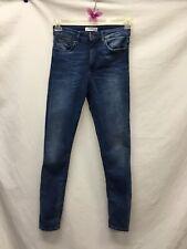 Zara Blue Distressed Skinny Jeans SZ 4 A108AB