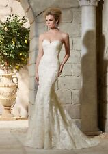 Mori Lee 2782 Size 12  GENUINE Wedding Dress Light Gold With tags