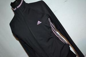 23917-a Womens Adidas Athletic Jacket  Size Medium Polyester Gray