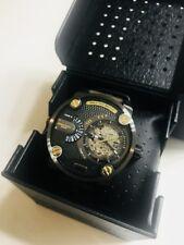 Diesel Men's DZ7364 Automatic Watch The Daddies Series Olive-Brown Leather