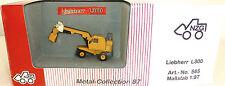 Liebherr L300 Excavatrice Pelle sur pneus jaune NZG 565 Métal Collection H0 1:87