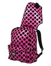 NWT JUSTICE Pink/Black Sequin Polka Dot Backpack with Hood-Back to School!