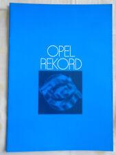 Opel Rekord brochure Feb 1978 UK market