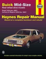Buick Regal Century Wagon 1974-1987 Haynes Workshop Manual Service Repair
