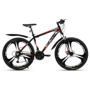 """Mountain Bike/Bicycle 26""""  for men and women double disk Steal fork 21 speed"""