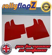 RallyflapZ Peugeot 206 Conjunto de 4 Estilo Rally barro solapas & Fijaciones-Rojo 4 mm PVC
