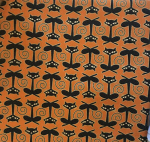 1 yard Joann Fabric Black Cat Fabric 100% Cotton - New - Never Been Washed