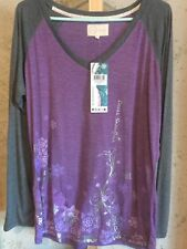 NWT Diva Snow Gear 2XL Long-sleeved Shirt with Silver Accents, Feminine, Purple