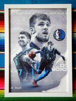✺Framed✺ LUKA DONCIC Dallas Mavericks NBA Poster - 45cm x 32cm x 3cm