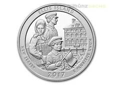America the Beautiful ATB Ellis Island Monument New Jersey 5 OZ Argent USA 2017