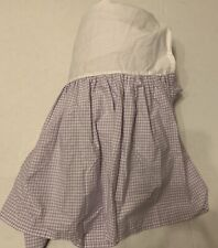 Pottery Barn Kids Purple Check Gingham Twin Bed Skirt