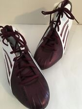 ADIDAS Scorch 3/4 D Cleats Maroon White Football Men's Size USA 12 # 036005