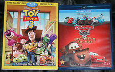 Disney Pixar Blu-ray DVD Lot - Cars Mater's Tall Tales (Used) CARS 2 Toy Story 3
