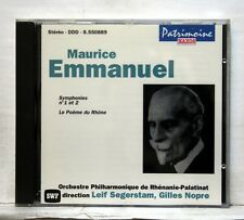 SEGERSTAM, NOPRE - EMMANUEL symphonies nos.1 & 2 / Le poème de Rhône NAXOS CD NM