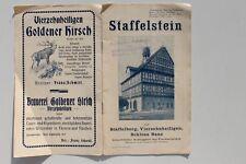 Reiseführer Prospekt Staffelstein Staffelberg Banz Vierzehnheiligen um 1920