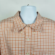 Brooks Brothers Non Iron Salmon Orange Check Plaid Mens Dress Shirt 2XL XXL