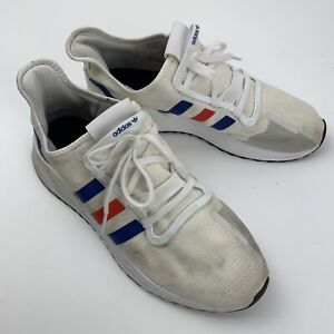 Adidas U Path Run Men's Shoes Size 14 White Red Blue EG5331