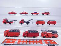 CR64-0,5# 11x Wiking H0/1:87 Feuerwehr-Modell leichte Mängel: DL MB+VW T1/T2 etc