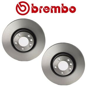 For Porsche Cayenne Pair Set of 2 Front UV Coated Disc Brake Rotors 368mm Brembo