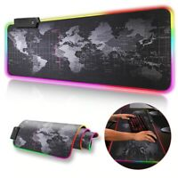 LED Keyboard Backlit Computer pad RGB Gaming mause Mat Large Desk Mice Mousepad