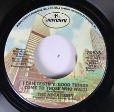 Northern Soul Crossover 45 The Notations - I Can Testify (Good Things Come To Th
