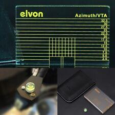 LP Vinyl Record Player Phono Measuring Tonearm VTA/Cartridge Azimuth Ruler w bag