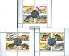 Cambogia 1619-1630 hoja miniatura (edición completa) usado 1996 prehistoria anim