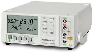 Peaktech P2510 1-Phase Power Meter Single Phase Power Analyzer