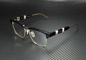 GUCCI GG0605O 001 Square Black Gold Black Demo Lens 52 mm Men's Eyeglasses