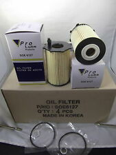 Lot 4 Engine Oil Filter SOE6127  Fits:Hyundai,Fits: Kia V6 3.3L 3.5L